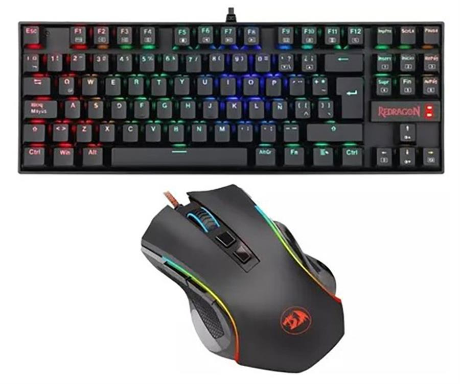 Kit Gamer K552 Teclado Kumara + Mouse Griffin Rgb Esp