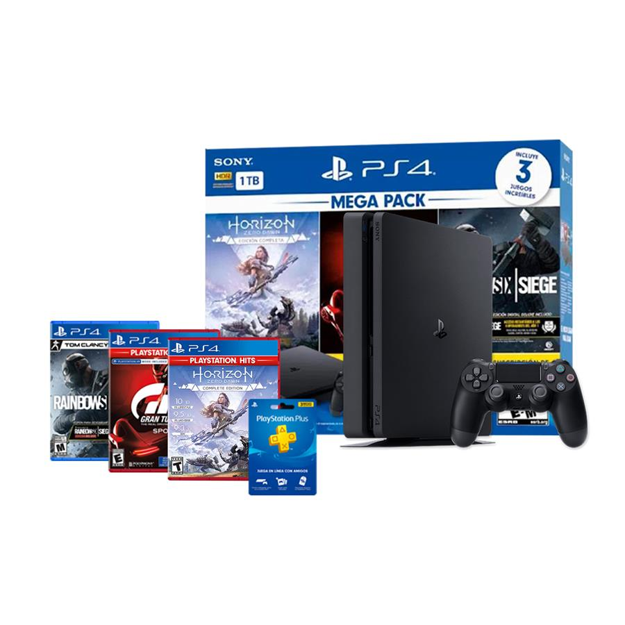 Consola Playstation 4 Slim 1 Tb Megapack 16