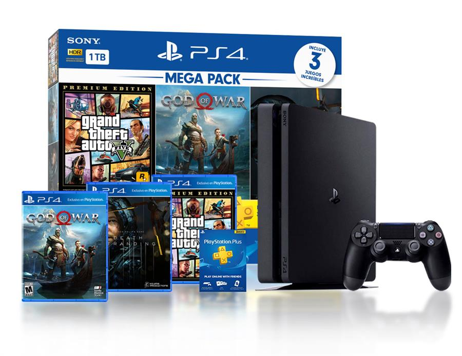 Consola Playstation 4 Slim 1 Tb Megapack 13