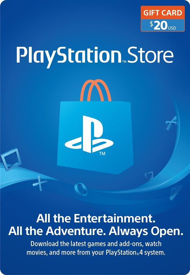 20 Usd PSN Playstation Store Gift Card (Tarjeta de regalo) Argentina