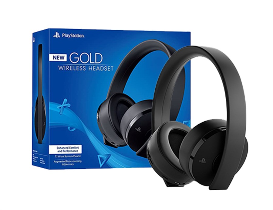 Auriculares 7.1 Gold Wireless Black