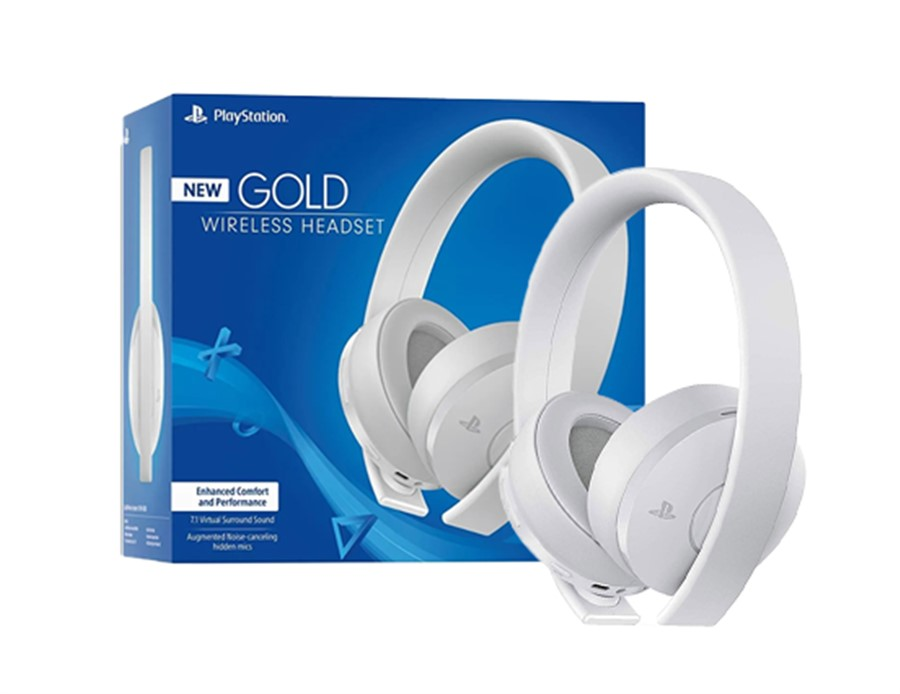 Auriculares 7.1 Gold Wireless White