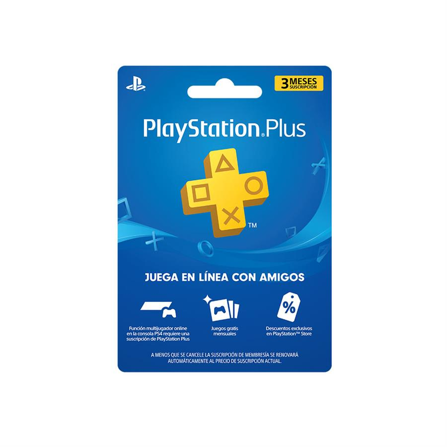 Membresia PSN Playstation Plus 3 Meses (ARG/USA)
